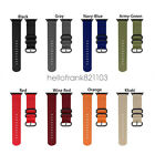 Military Sport Nylon Watch Band iWatch Strap For Apple Watch 44mm 42mm 40mm 38mm image