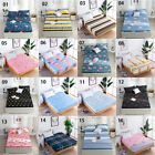 Twin/Full/Queen Size Waterproof Flat Fitted Sheet Bed Cover Comfort Carton Print image