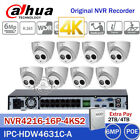 DAHUA 4K 16CHANNEL NVR+6MP IPC-HDW4631C-A 6MP TURRET CAMERA CCTV SECURITY SYSTEM