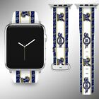 Milwaukee Brewers Apple Watch Band 38 40 42 44 mm Fabric Leather Strap 03 on Ebay