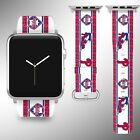 Philadelphia Phillies Apple Watch Band 38 40 42 44 mm Fabric Leather Strap 01 on Ebay