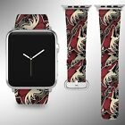 Arizona Coyotes Apple Watch Band 38 40 42 44 mm Fabric Leather Strap 01 $29.97 USD on eBay