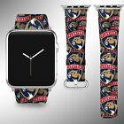 Florida Panthers Apple Watch Band 38 40 42 44 mm Fabric Leather Strap 01 $29.97 USD on eBay