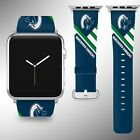 Vancouver Canucks Apple Watch Band 38 40 42 44 mm Fabric Leather Strap 01 $29.97 USD on eBay