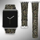 Vegas Golden Knights Apple Watch Band 38 40 42 44 mm Fabric Leather Strap 01 $29.97 USD on eBay