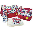 Large 5pcs Baby Nappy Diaper Mummy Hospital Changing Bag Brand New