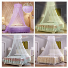 4 Colors Lace Bed Mosquito Netting Mesh Canopy Round Dome Bedding Net image