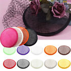 Women Sinamay Cocktail Hat Fascinator Round Base Millinery DIY Accessory Surpris