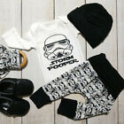 Star wars Newborn Baby Boy Clothes Jumpsuit Romper Bodysuit +Pants +Hat Outfits