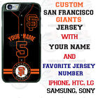 SAN FRANCISCO GIANTS PHONE CASE COVER FITS IPHONE SAMSUNG LG MOTO etc NAME&No.
