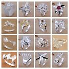 925 Silver Plt Statement Ring P 1/2 Size Ladies Gift Thumb Toe Open Finger