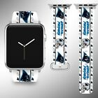 Carolina Panthers Apple Watch Band 38 40 42 44 mm Series 1 2 3 4 Wrist Strap 04