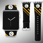 Pittsburgh Steelers Apple Watch Band 38 40 42 44 mm Series 1 - 5 Wrist Strap 4