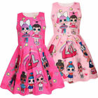 New Girls Lol Surprise !!Doll Princess Dress Kids Party Birthday Holiday Dress