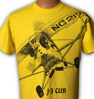 Airplane T-shirt with HUGE Piper J-3 Cub print on front and back -- Youth to 5XL image