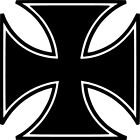 Iron Cross Vinyl Sticker Decal Knights Choppers - Choose Size & Color