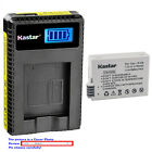 Kastar Battery LCD USB Charger for Genuine Original Canon LC-E8 LC-E8E Charger