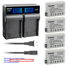Kastar Battery LCD Rapid Charger for Canon LP-E8 E8 Battery LC-E8 LC-E8E Charger