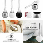 Stainless Steel Toilet Brush And Bowl Holder Set Home Bathroom Accessories Set