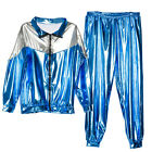 1980s Adults Mens Ladies Shiny Chav Scouser Shell Suit Costume Fancy Dress