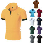 Men's Slim Fit Polo Shirts Short Sleeve Casual Golf T-Shirt Jersey Tops Tee