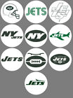 "New York Jets Set of 10 Buttons or Magnets 1.25"" NEW $5.0 USD on eBay"