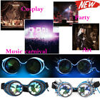 LED Steampunk kaleidoscope Goggles Punk Biker Rave Cosplay Vogue Party Glasses