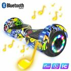 """6.5"""" Zoll Elektro Scooter Hoverboard Bluetooth LED Electric Smart Skate Board #s"""