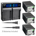 Kastar Battery LCD Rapid Charger for Canon BP-820 BP-828 Canon XA20 Video Camera
