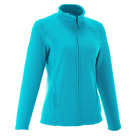 Women Fleece Jacket Full Zip Turquoise High Quality Vibrant color High Quality