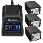 Kastar Battery LCD Quick Charger for Canon BP-827 & VIXIA HF200 HF 200 Camera