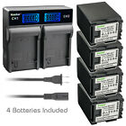 Kastar Battery LCD Rapid Charger for Canon BP-827 & VIXIA HF G20 HFG20 Camera