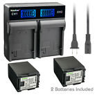 Kastar Battery LCD Rapid Charger for Canon BP-827 & VIXIA HF S20 HFS20 Camera