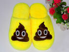 1Pair Emoji Cute Unisex Slippers Home Indoor Shoes Cartoon Plush Slippers YOM