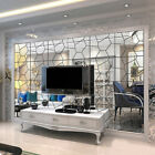 3d Diy Tile Square Wall Stickers Mirror Wall Mosaic Decal Home Room Decor