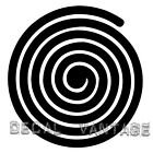 Spiral Vinyl Sticker Decal - Choose Size & Color