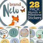 Monthly Baby Stickers - Woodland Pack - 28 First Year Boy Milestone Stickers