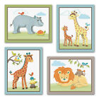 Giraffe Safari.Jungle Animals. Elephant Nursery/Kids/Baby Wall Art/Bedroom Decor