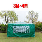 3x4m Waterproof Gazebo Outdoor Patio Garden Marquee Canopy Party Tent With Sides