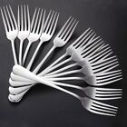 12Pcs Quality Stainless Steel Silverware Polished Flatware Dinner Forks Set