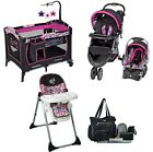 Newborn Stroller with Car Seat, High Chair & Diaper Bag Baby Trend Travel System
