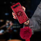 Bling Crystal Stand Case Hair Ball Cover For Samsung and For Huawei Phone Series