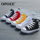 Children's sports shoes boys girls high top canvas shoes kids casual sneakers