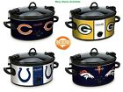 Crock-Pot NFL Slow Cooker 6 Qt  Oval Stoneware Kitchen Cooking Pot 3 Settings $47.26 USD on eBay