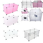 6 Panel Wire Metal/Plastic Pet Dog Animal Exercise Playpen Fence Enclosure Cage
