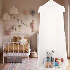 Round Lace Insect Bed Canopy Netting Curtain Dome Mosquito Net Elegant White image