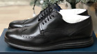New COLE HAAN Mens Original Grand Black Leather Wingtip Oxford Shoes C27984