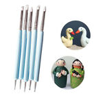 5pcs/Set Soft Pottery Clay Tool Double-head Sculpting Polymer Modelling Tools image