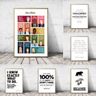 Used, The Office TV Show Art Canvas Poster Painting Michael Scott Quotes Office Decor for sale  Shipping to South Africa
