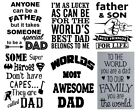 Various Dad Stickers Decal Vinyl For Glass Wall Metal Wood Craft Wine Bottle Etc
